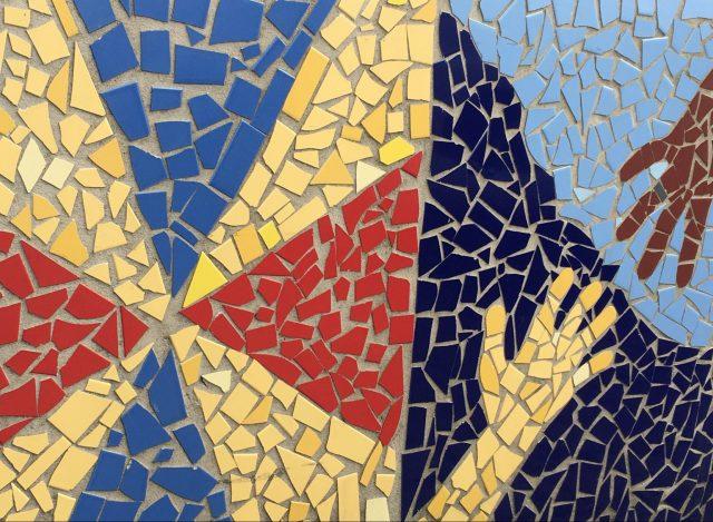 Mosaik i olika färger. Guidad tur i Göteborg med Meet the Locals