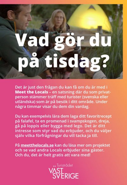 Annons om att bli en Local för Turistrådet Västsverige